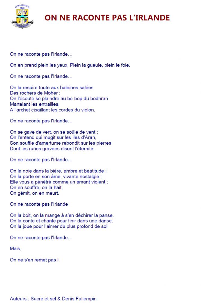 Texte lu par Marie Chartrain